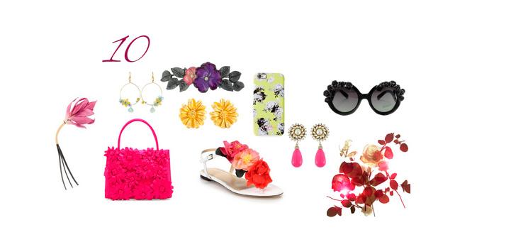 10 аксессуаров в цветочной тематике