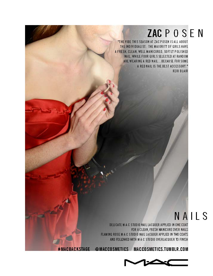 Макияж от M∙A∙C Cosmetics на неделе моды в Нью-Йорке