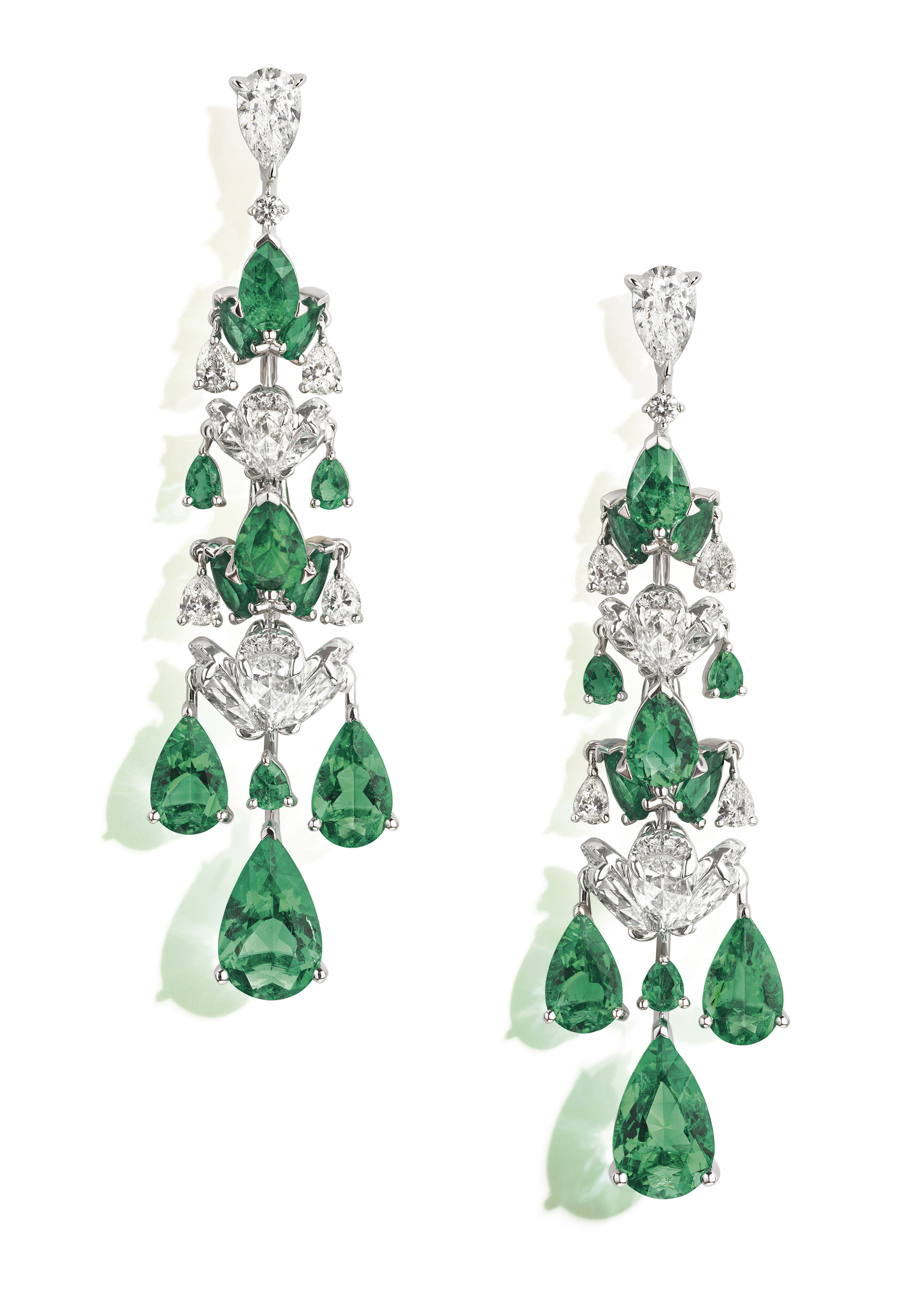 NIRAV MODI Emerald Waterfall Earrings