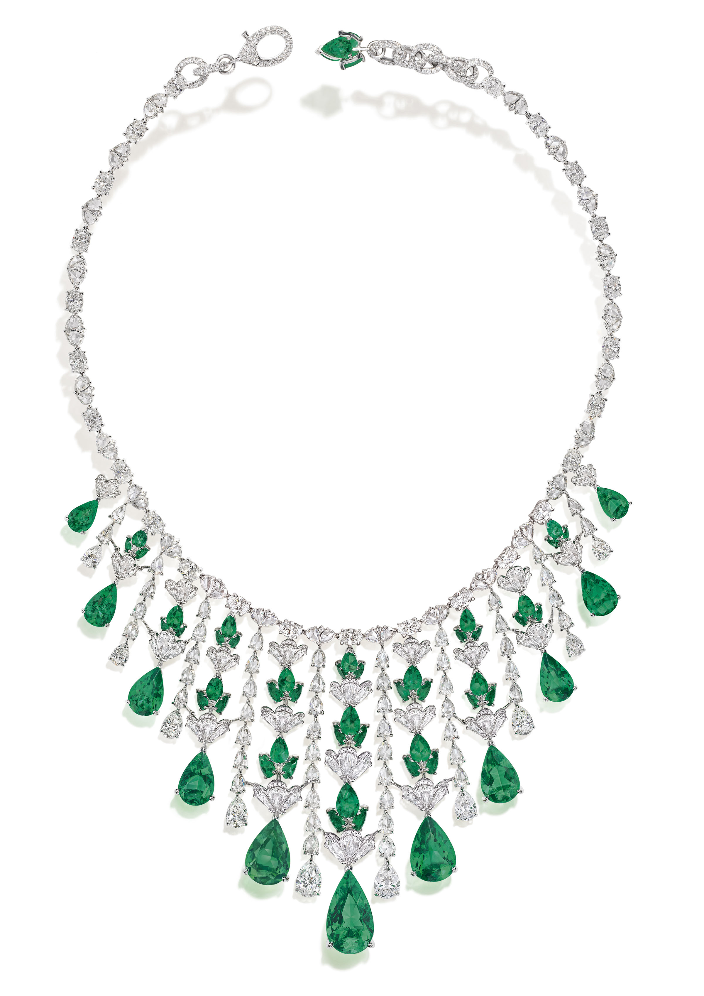 NIRAV MODI Emerald Waterfall Necklace